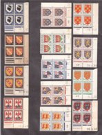 FRANCE Lot COINS DATÉS DATED CORNERS Blasons Arms ** Luxe ! - 1940-1949