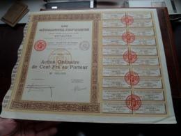 """Les Métalliques Françaises """" METALFRA """" / Action Ordinaire De Cent Frs Au Porteur - N° 105,486 ( Zie/Voir Foto ) ! - Acciones & Títulos"""
