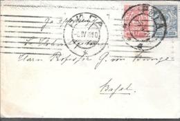 RUSSIA RUSIA RUSSLAND A BASEL SUISSE SWITZERLAND ENVELOPPE CIRCULEE 1910 VOIR SCANS - 1857-1916 Empire