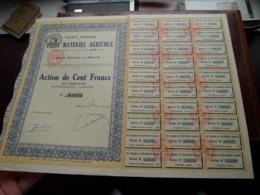 Petit Matériel AGRICOLE Melun / Action De Cent Francs Au Porteur - N° 1,653 ( Zie/Voir Foto ) ! - Landbouw