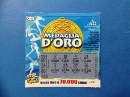 LOTTERIA ISTANTANEA GRATTA E VINCI USATO € 2,00 MEDAGLIA D'ORO OLIMPIADI TORINO 2006 - Biglietti Della Lotteria
