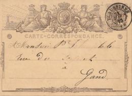 EP 5c - Oblitération DC Ecaussines 73 - Cartes Postales [1871-09]