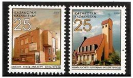 Kazakhstan 2006 . Cathedral, Sinagogue.  2v: 25, 25.  Michel # 548-49 - Kazakistan