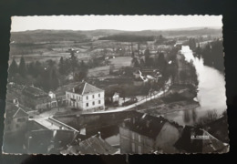 CPSM MONTIGNAC LA VEZERE LA MAIRIE 1950 EDITION LA CIGOGNE TAMPON AU DOS 24 DORDOGNE - Francia