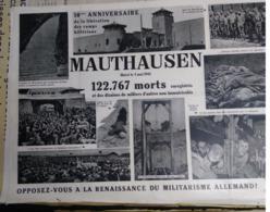 Affiche Des 10ans De La Libération Du Camp De Mauthausen, 84 X 60cm - Documents