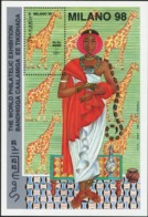 SOMALIA 1998 Milan Milano World Philatelic Exhibition Giraffes Animals Fauna MNH - Giraffes