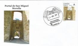 SPAIN. POSTMARK. SAN MIGUEL DOOR. MORELLA. 2017 - España