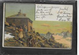AK 0350  Gruss Aus Den Bergen - Künstlerkarte Um 1899 - Souvenir De...