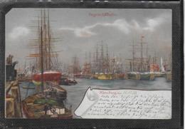 AK 0350  Hamburg - Segelschiffhafen / Lithographie Um 1898 - Segelboote
