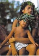 Polynésie Française- Maternité Polynésienne (maman Bébé Nu Enfant ) (photo Erwin Christian Tahiti 370 @ *PRIX  FIXE - Polynésie Française