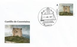 SPAIN. POSTMARK. COCENTAINA CASTLE. 2017 - España