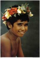 Carte Postale Tahiti Portrait D'un Garçon Trés Beau Plan - Tahiti