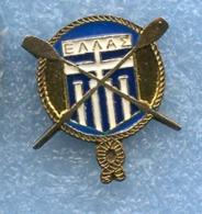 GREECE Federation AVIRON Rowing Remo Rundern Pin Badge - Roeisport