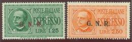 ITALIA REPUBBLICA SOCIALE ITALIANA (R.S.I.) SASS. ESP. 19/III - 20/III NUOVI - 4. 1944-45 Repubblica Sociale