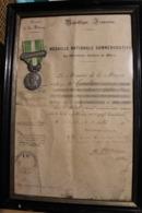 Médaille Maroc 1910 Avec Son Certificat - Casablanca - Médaille Nationale Des Opérations Effectuées Au Maroc - France