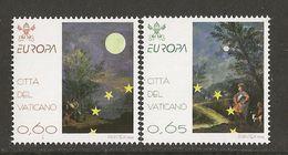 "VATICANO /VATICAN / VATIKANSTAD- EUROPA 2009  - TEMA  ""ASTRONOMIA"" - SERIE De 2 V.  DENTADA  (PERFORATED) - Europa-CEPT"