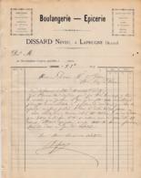 LAPRUGNE DISSARD NEVEU BOULANGERIE EPICERIE HORLOGERIE BIJOUTERIE COUCOUS CHANTANTS EAUX DE VIE HUILES LARDS ANNEE 1885 - Frankreich