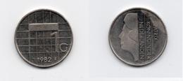 1 Gulden – Pays-Bas – 1982 – Reine Béatrix – Nickel – Etat SUP – KM 205 - [ 3] 1815-… : Kingdom Of The Netherlands