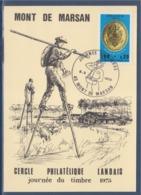 = Journée Du Timbre 1975 Mont De Marsan 8.3.75 Facteur De Ville De La 2ème République N°1838 - Journée Du Timbre