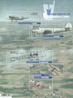 2016 Belgium Aviation Airplanes   Miniature Sheet Of 5 MNH @ 80% Face Value - Flugzeuge