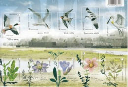 2016 Belgium  Birds & Plants Flowers Miniature Sheet Of 10 MNH @ 80% Face Value - Sonstige