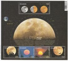 2016 Belgium  Moon Space Astronomy Miniature Sheet Of 5 MNH @ 80% Face Value - Astronomie
