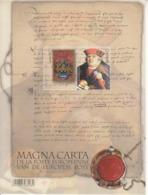 2016 Belgium  Magna Carta Government Democracy  Miniature Sheet Of 2 MNH @ 80% Face Value - Astronomie