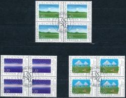 Zumstein 1181-1183 / Michel 1238-1240 Viererblockserie Mit ET-Zentrumstempel - Used Stamps