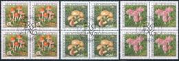 Zumstein 1195-1197 / Michel 1252-1254 Viererblockserie Mit ET-Zentrumstempel - Used Stamps