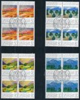 Zumstein 958-961 / Michel 1016-1019 Viererblockserie Mit ET-Zentrumstempel - Used Stamps