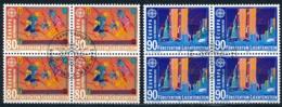 Zumstein 974-975 / Michel 1033-1034 Viererblockserie Mit ET-Zentrumstempel - Used Stamps