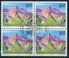 Zumstein 979 / Michel 1038 Viererblockserie Mit ET-Zentrumstempel - Used Stamps