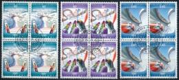 Zumstein 1018-1020 / Michel 1076-1078 Viererblockserie Mit ET-Zentrumstempel - Used Stamps