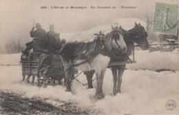 CPA (Le Puy-en-Velay) - L'hiver En Montagne - Un Courrier En Traineau (très Beau Plan) - Le Puy En Velay