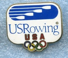 USA Rowing Federation AVIRON Rudern Remo Pin Badge - Roeisport