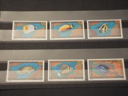 WALLIS FUTUNA - 1992 FAUNA MARINA 2 + 2 + 2 VALORI - NUOVI(++) - Wallis E Futuna