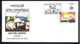 30.-SPAIN ESPGANE 2012. FIRST DAY OF ISSUE. MUSHROOM. CHAMPIGNONS. SETAS. HONGOS FUNGI. FUNGHETTO - Hongos