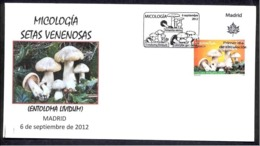 31.-SPAIN ESPGANE 2012. FIRST DAY OF ISSUE. MUSHROOM. CHAMPIGNONS. SETAS. HONGOS FUNGI. FUNGHETTO - Hongos