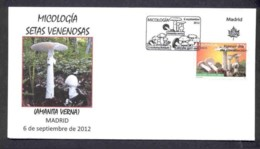 32.-SPAIN ESPGANE 2012. FIRST DAY OF ISSUE. MUSHROOM. CHAMPIGNONS. SETAS. HONGOS FUNGI. FUNGHETTO - Hongos