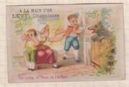 9AL2514 CHROMO A LA MAIN D'OR LEVY CHEMISIER Le Loup La Mere Et L'enfant 2 SCANS - Other
