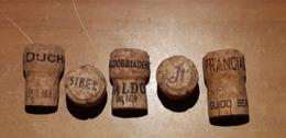 5 Tappi Sughero - Duchessalia - Sibel - Valdobbiadene - Jt - Franciacorta  Da 3.00 - Capsules & Plaques De Muselet