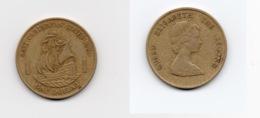 1 Dollar – Caraïbes Orientales – 1981 - Bateau – Elizabeth II – Aluminium Bronze – Etat TB – KM 15 - Ostkaribischer Staaten