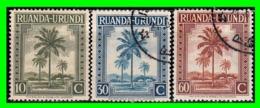 RUANDA URUNDI 3 SELLOS DE SERIE AÑO 1942-43 - 1962-69: FDC