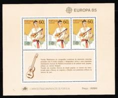 1985 Portogallo Madeira Portugal EUROPA CEPT EUROPE Foglietto MNH**  Souv. Sheet - Europa-CEPT