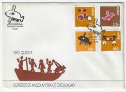Cover FDC - Angola - Arte Quioca - Luanda 1993 - Angola