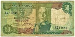 Angola - 50 Escudos - 24.11.1972 - Pick 100 - Série AQ - Marechal Carmona - PORTUGAL - Angola