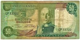 Angola - 50 Escudos - 24.11.1972 - Pick 100 - Série CP - Marechal Carmona - PORTUGAL - Angola