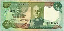 Angola - 50 Escudos - 24.11.1972 - Pick 100 - Série DT - Marechal Carmona - PORTUGAL - Angola