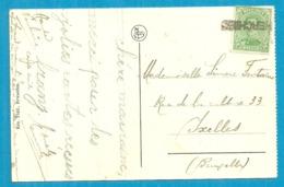 137 Op Kaart Met Naamstempel HERCHIES Als Noodstempel - Postmark Collection