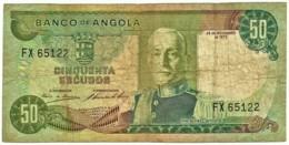 Angola - 50 Escudos - 24.11.1972 - Pick 100 - Série FX - Marechal Carmona - PORTUGAL - Angola